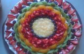 Queso tarta de fruta