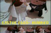 Pareja de boda-huevos de Pascua
