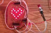 Animado corazón de LED