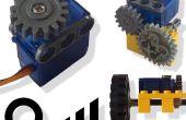 Motor servo convertido a motor (con control de velocidad y dirección)