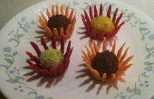 Trufas de chocolate de la flor