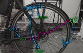 Luces de bicicleta de seguridad de la inducción magnética. Batería y el diseño casi invisible, barato, resistente al agua gratis!