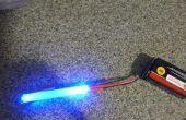 Super cool luz trasera de bicicleta LED palillo del pegamento brillante instinto de fibra