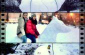El SuperSnowman, el perro de la nieve y la tortuga nos dispusimos a saltar