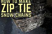 Cómo hacer cadenas para la nieve Zip Tie
