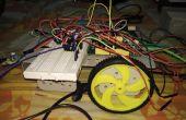 Obstáculo evitando Robot utilizando el módulo IR interconectado con un tablero de Mediatek LinkIt