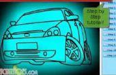 Cómo dibujar un coche Simple