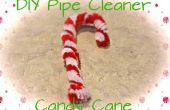 Bastón de caramelo DIY limpiador de pipa
