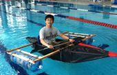 Kayak de lona y cinta del conducto
