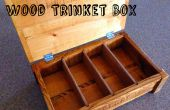 Caja de la baratija madera de roble reciclado palets
