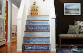 Decorar la escalera en el estilo marroquí