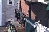 Subir la cuerda base de secadora de ropa porche