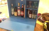 Mini bar montado en la pared