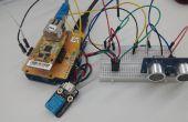 [Proyecto Arduino] #Remote monitoreo de ultrasonido Sensor valor con ioShield-A & Cloud Server