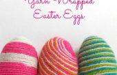 Hilo envuelto los huevos de Pascua