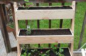 Jardinera vertical inclinada