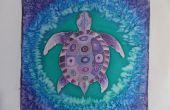 """Tortuga morada"" pintura de seda"