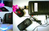 La fuente de alimentación del dínamo de improvisados (con puertos de cargador, luz, mini ventilador)