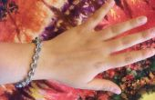 Hexagonal Tuerca pulsera y pendientes