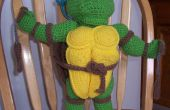 Teenage Mutant Ninja Turtle ganchillo muñeca marioneta