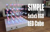 Hacer su propio sencillo 5 x 5 x 5 cubo del LED RGB