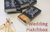 Pizarra Matchbox favores de la boda