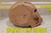 #7 1/3 hierro hombre marca 42 casco de cartón - Abdellah DIY - cómo a