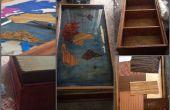 Mesa de centro madera de continente de la chapa