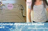 Reciclaje de ropa: Remodelar camiseta ahorrativo