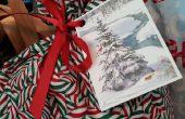 Hacer reciclado regalo etiquetas de viejas tarjetas de Navidad