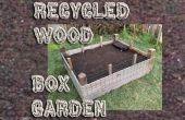 Reciclado de madera caja de jardín