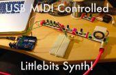 USB MIDI Littlebits sintetizador!