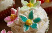 Flor Cupcakes de jengibre limón con menta