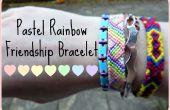 Pulsera de la amistad arco iris pastel