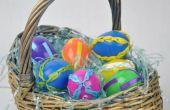 Huevos de Pascua plásticos con cinta