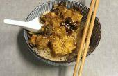 Lento cocinado Teriyaki Waffle Tofu