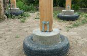 Neumático de muelles de concreto