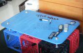 Cómo construir una mesa de café Milkcrate