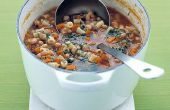 Sopa de frijoles rojos vegetales