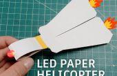 Helicóptero de papel LED