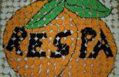 Mural de Cupcake de naranja