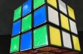 Patrón de tablero de ajedrez en cubo de Rubik el