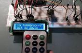 Pantalla LCD de la temperatura en C o F eligiendo el tipo con un control remoto
