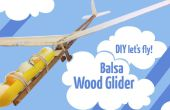 Planeador de madera balsa
