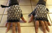 Guantes fingerless de Chainmaille