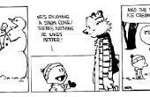 Cómo construir un Calvin y Hobbes muñeco de nieve, escogió!