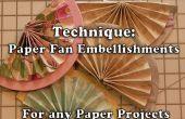 Cómo hacer papel mitad ventiladores para la elaboración de