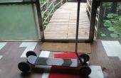 Reconstrucción de Scooter de 4 ruedas con una barra de Control
