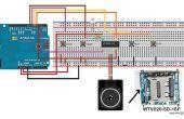 Cómo usar WTV020SD - 16P con Arduino