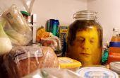 La cabeza en una broma de jar